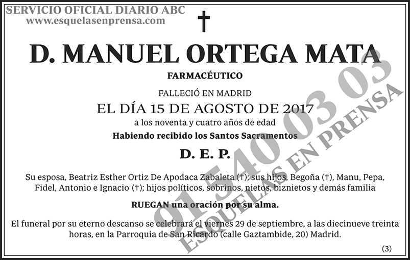 Manuel Ortega Mata